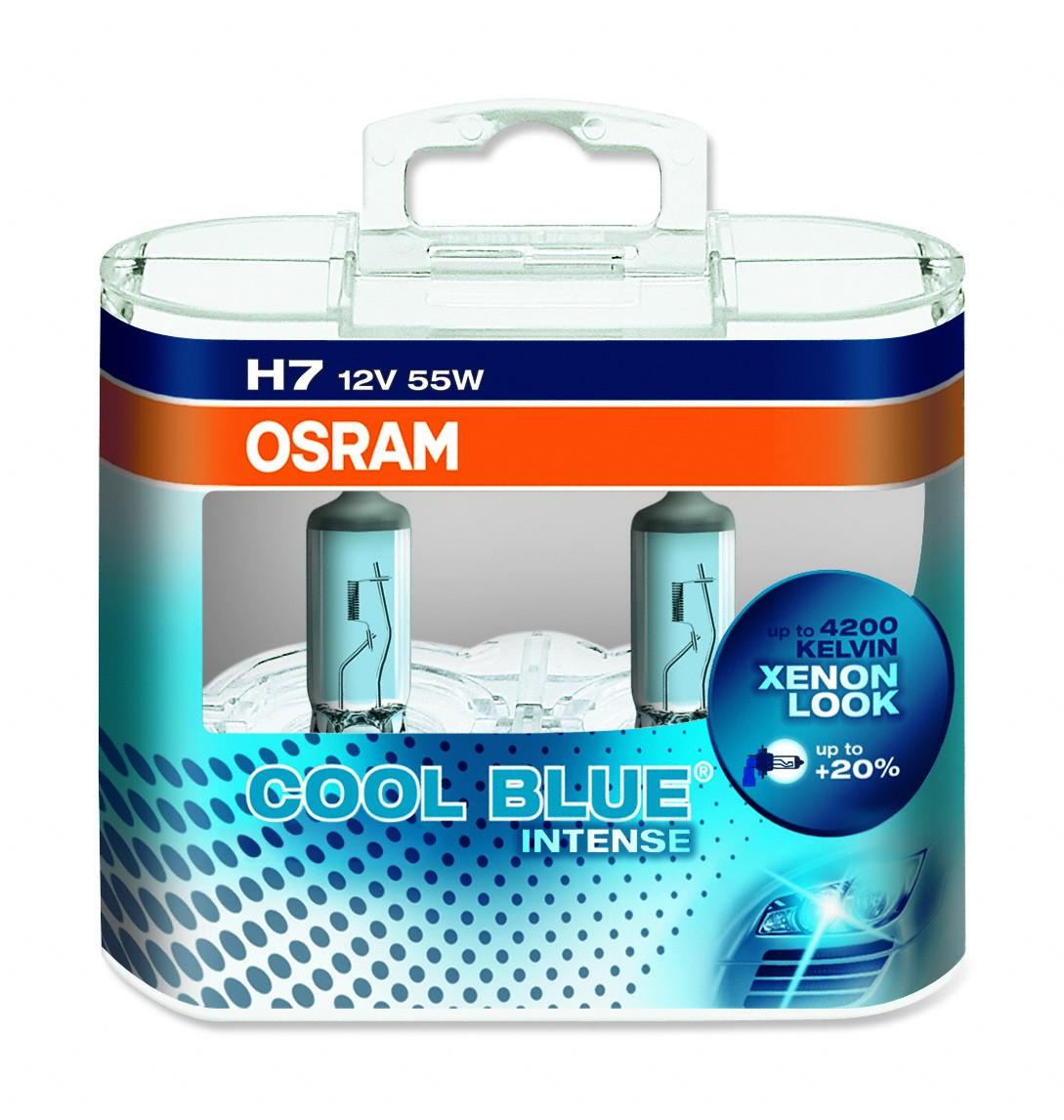 lampada alogena cool blue intense h7 12 v 55 w luce blu lampada da 200h e base px26d 4100k. Black Bedroom Furniture Sets. Home Design Ideas