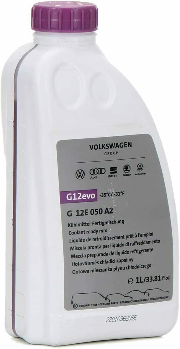 LIQUIDO RADIATORE ANTIGELO DA 1 LT  ORIGINALE G12 EVO - G 12E 050 A2 GRUPPO  VW AUDI