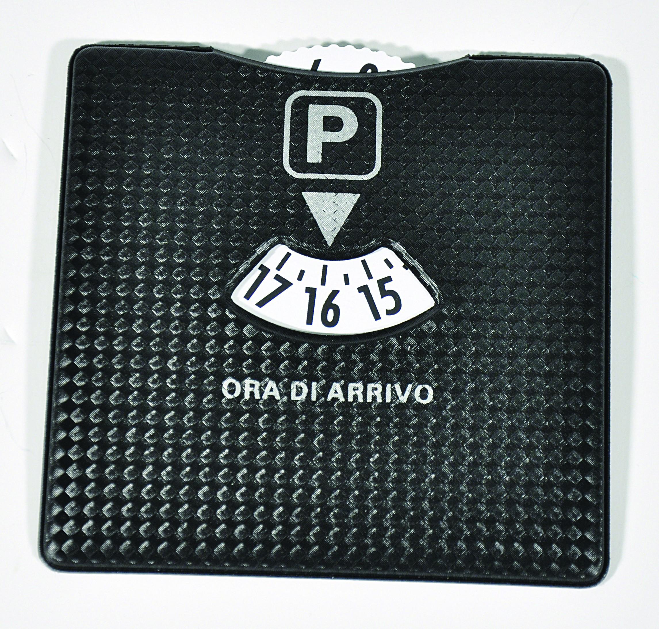 DISCO ORARIO CARBON LOOK 10x10 cm