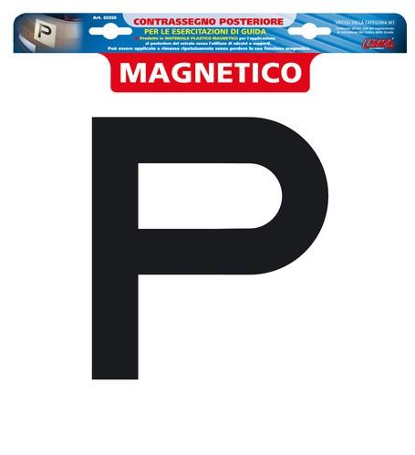 ADESIVO CONTRASSEGNO PER ESERCITAZIONI GUIDA, MAGNETICO - POSTERIORE