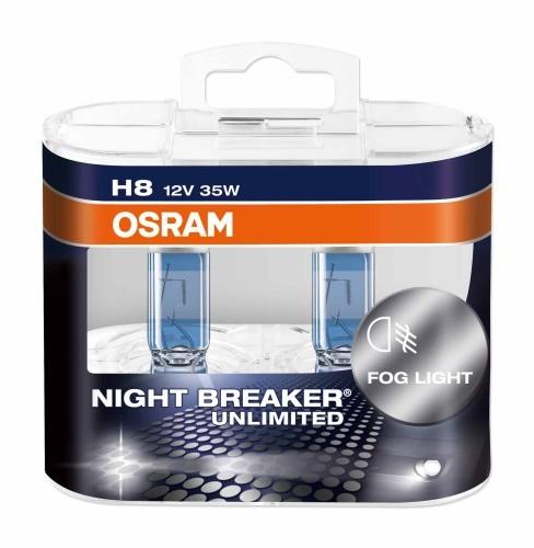 LAMPADA ALOGENA NIGHT BREAKER UNLIMITED, H8 12 V, 35 W, LUCE BIANCA, ATTACCO PGJ19-1, 800 LUMEN