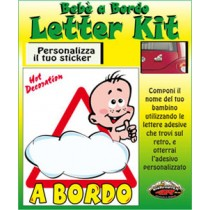 "BEBÈ A BORDO ""LETTER KIT"""