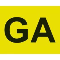 ADESIVO CONTRASSEGNO GA (GUIDA ACCOMPAGNATA) - ANTERIORE