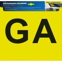 ADESIVO CONTRASSEGNO GA (GUIDA ACCOMPAGNATA) - POSTERIORE
